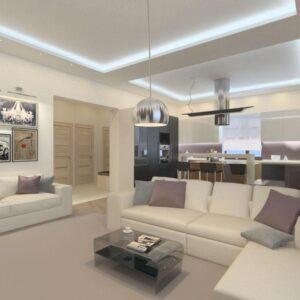 дизайн проект интерьера квартиры-студии