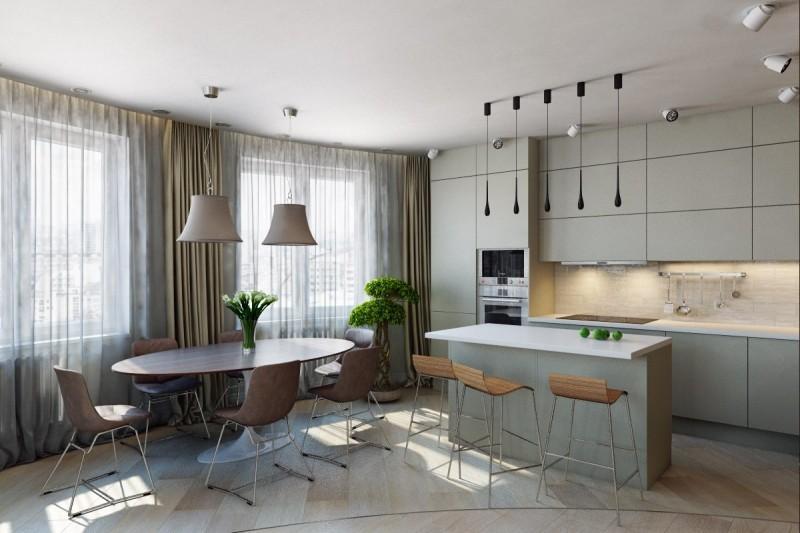 Дизайн проект кухня студия