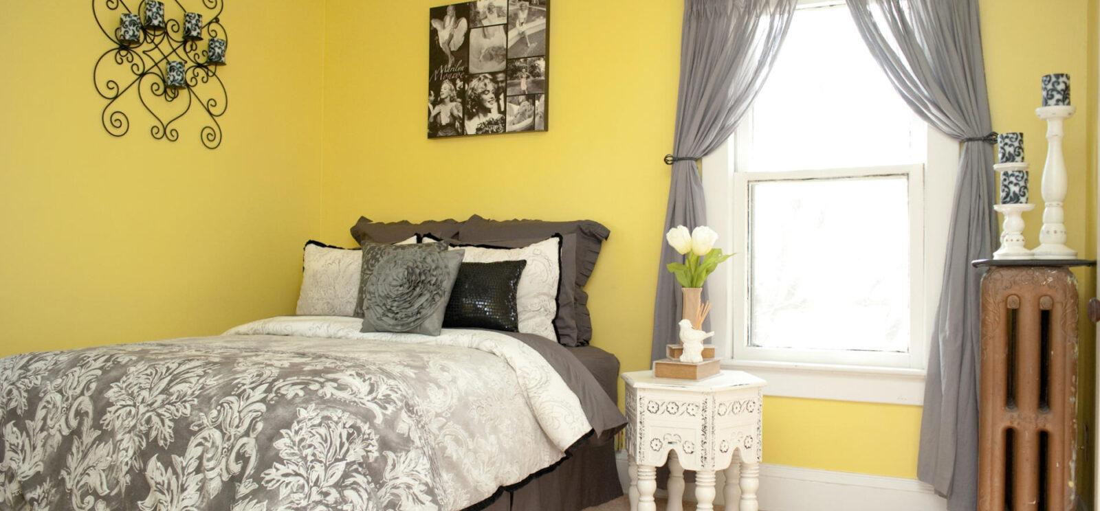 Sumptuous Design Yellow Bedroom Ideas Home Design Hgihomes intended for Master Bedroom Yellow - Man 17